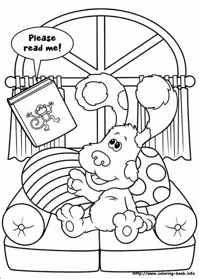 Coloring Pages Clues Blues Fun Pm Posted