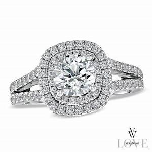 vera wang love collection 2 ct tw diamond frame split With vera wang wedding rings love collection