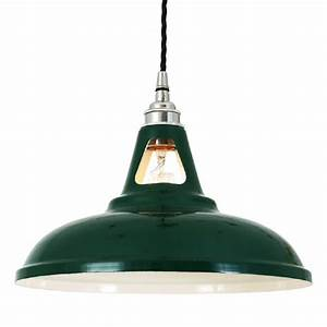 Ceiling pendant light vintage factory style painted in