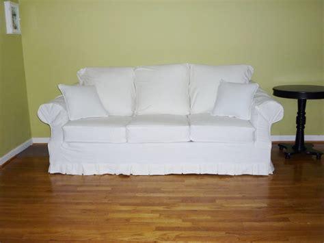 white slip covered sofa white slipcovered sofas