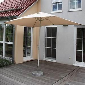 Sonnensegel Rechteckig 2x3m : alu sonnenschirm gartenschirm n23 2x3m rechteckig neigbar rostfrei creme ~ Buech-reservation.com Haus und Dekorationen