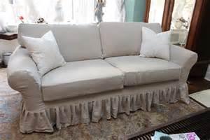shabby sofa shabby chic sofa ruffle slipcover by vintagechicfurniture