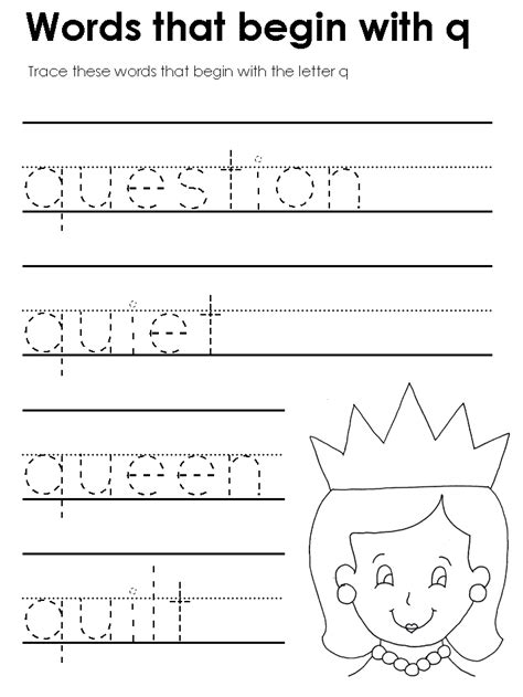 Letter Q Worksheets For Preschool Worksheets For All  Download And Share Worksheets  Free On
