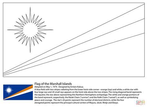 Dibujo De Bandera De Las Islas Marshall Para Colorear