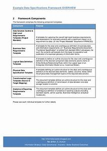 example data specifications and info requirements With high level business requirements document template