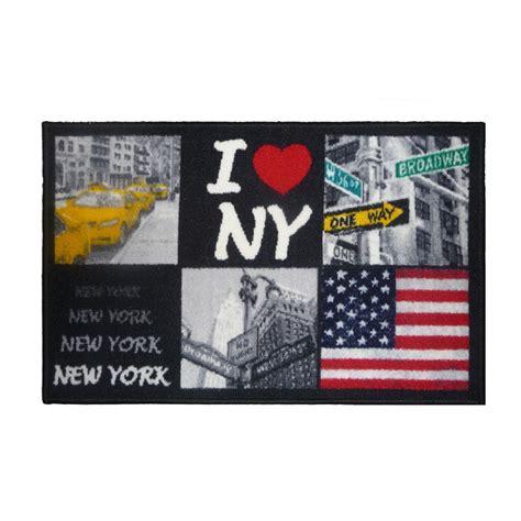 tapis de chambre york tapis deco york 50x80 cm gris pas cher