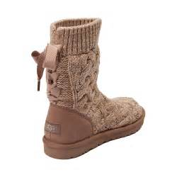 ugg womens knit boots discount womens ugg isla knit boot heelssales co uk flat shoes
