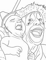 Coloring Clown Creepy Adults Clowns Adult Printable Drawing Scary Insane Halloween Creapy Face Circus Sheet Posse Sheets Getdrawings Getcolorings Popular sketch template