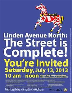 Linden Complete Street Celebration July 13 — You're Invited!