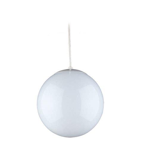 home depot globe lights sea gull lighting hanging globe 1 light white pendant 6018