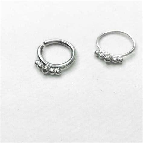 stunning urban princess silver septum ring dead