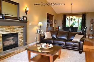 Warm And Welcoming Living Room And Dining Room Design