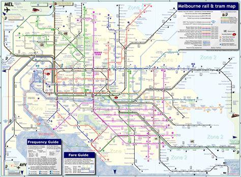 melbourne australia public transportation map melbourne