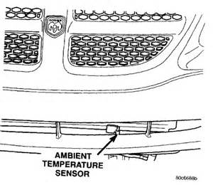 Dodge Avenger Ambient Air Temperature Sensor Location