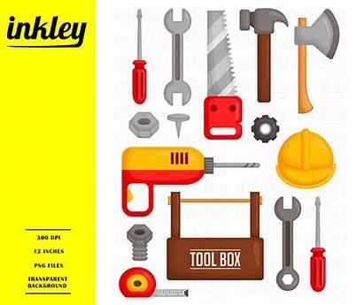 Tools Clip Clipart Tool Hammer Toolbox Axe