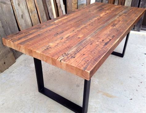 industrial table custom outdoor indoor exposed edge rustic industrial