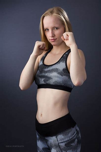 Fitness Woman Studio Tough Looking Ideal Portraits