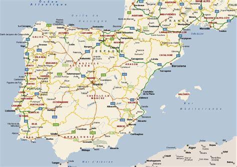 Cote Atlantique Espagne Carte by Info Carte Espagne Atlantique Voyages Cartes