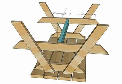 Picnic Table Plans Build Wood Diy Wooden