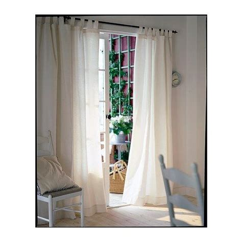 lenda curtains with tie backs 1 pair bleached white
