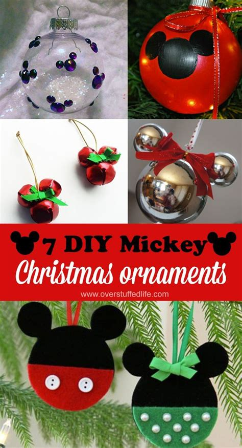 diy mickey mouse christmas ornaments christmas crafts
