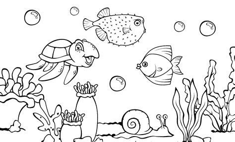 cara menggambar ikan darat maupun laut paling mudah