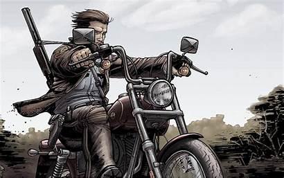 Biker Comic Rick Dead Walking Wallpapers 1080p