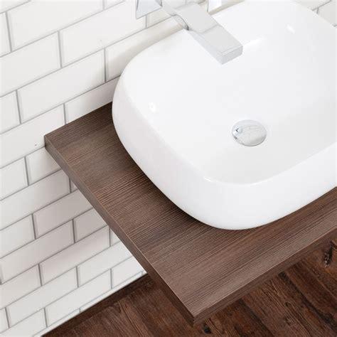 aquabro floating dark wood shelf sinks tapscom