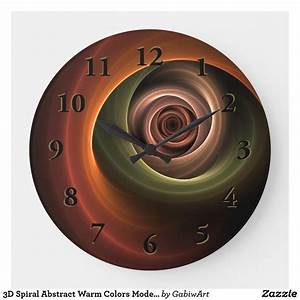 3d, Spiral, Abstract, Warm, Colors, Modern, Fractal, Art, Large