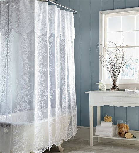 shower curtains easy care polyester somerset lace shower