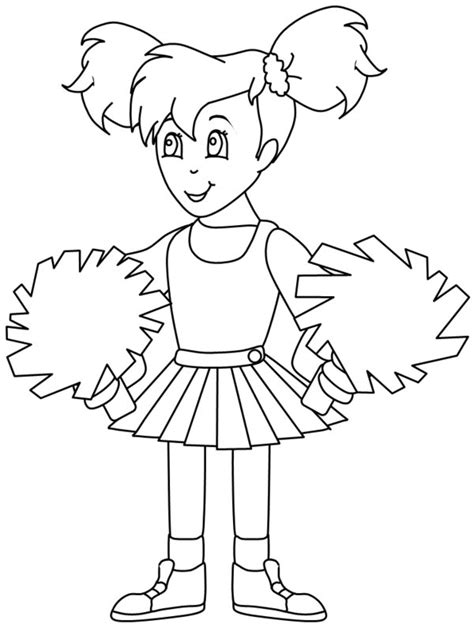 cheerleaders coloring pages coloring home