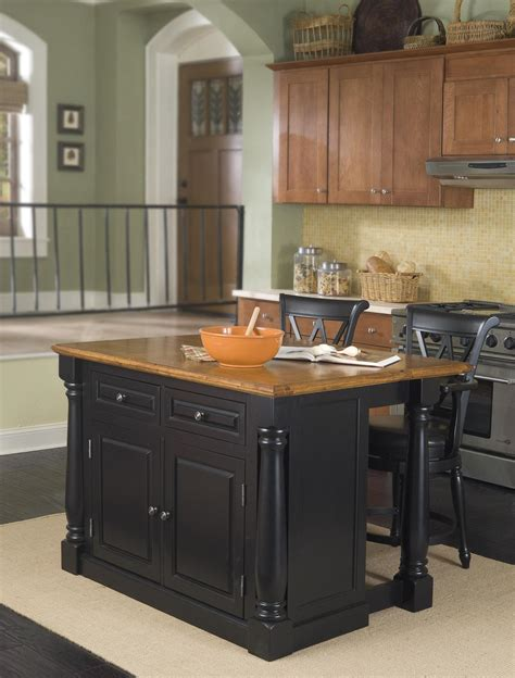 kitchen island stool home styles monarch kitchen island and two stools by oj