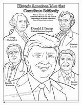 Coloring Presidents Trump Pages Donald President Comic Crayon Pence Mike American Hair Song Sheets Printable Books Lets Perfect Vice Riverfronttimes sketch template