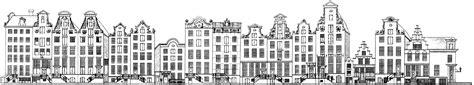 Kleurplaat Amsterdamse Huisjes by Kleurplaat Gevel Huisjes Het Onbeschermde Stadsgezicht