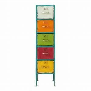 colonne de rangement en metal multicolore h 128 cm mojito With colonne maison du monde