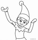 Elf Coloring Pages Christmas Printable Sheets Santa Cool2bkids Cartoon sketch template