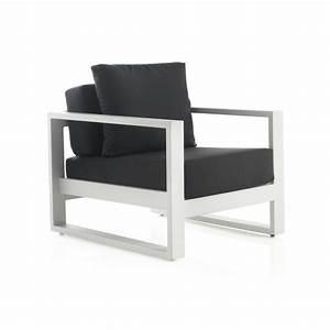 Fauteuil Design Blanc : fauteuil design en m tal blanc brin d 39 ouest ~ Teatrodelosmanantiales.com Idées de Décoration