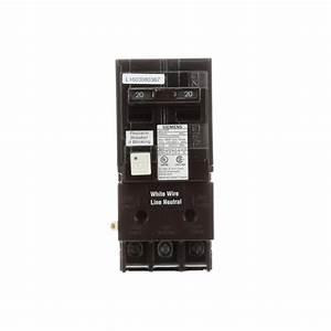 Siemens 20 Amp Double Pole Type Qpf2 Gfci Circuit Breaker