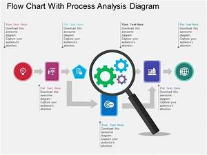 Flow Chart With Process Analysis Diagram Flat Powerpoint