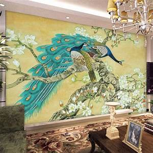 Vintage Home Decor Chinese Wallpaper Mural TV Background ...