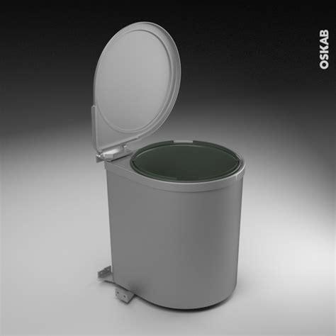 poubelle de porte cuisine poubelle de porte 13l 1 seau sous évier l28 x h35 cm sokleo oskab