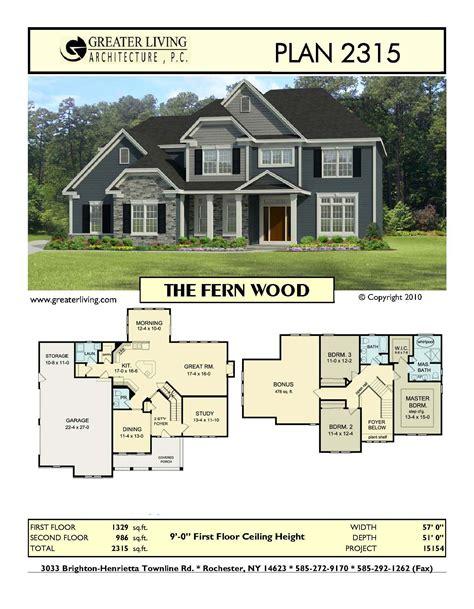 Plan 2315: THE FERN WOOD Sims house plans Dream house