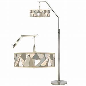 modern mosaic i giclee shade arc floor lamp h5361 8n667 With contemporary arc floor lamp with shade