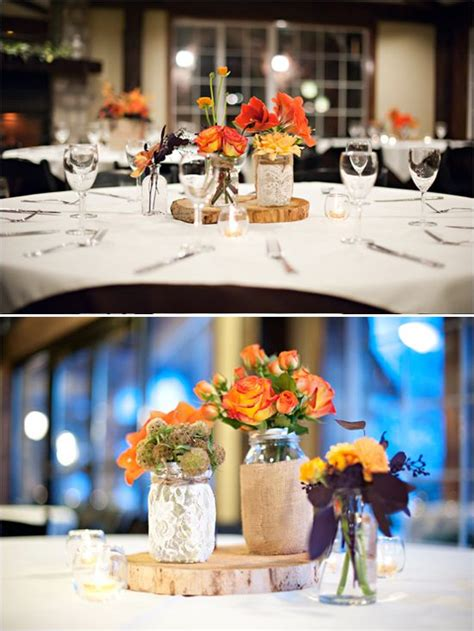 Wintery Fall Wedding At Wadley Farms Table Decorations