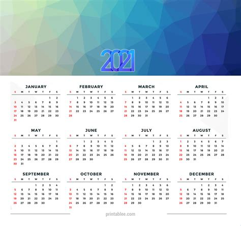 calendar printable  printableecom
