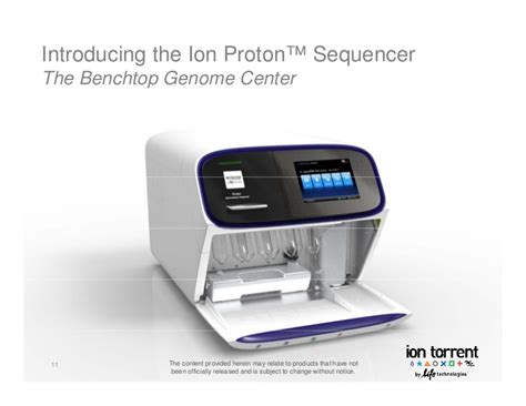 Ion Proton by Ion Proton Sequencer The Benchtop Genome Center