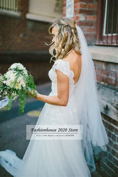 discount bohemian hippie style modest lace country wedding
