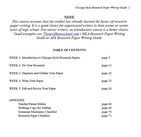 Chicago Style Research Papers by Excerpts From Chicago Style Research Paper Writing Guide