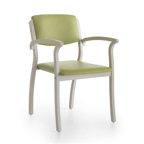 stable chair with armrests robust for waiting room
