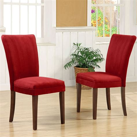 oxford creek parson dining chairs  cranberry red finish